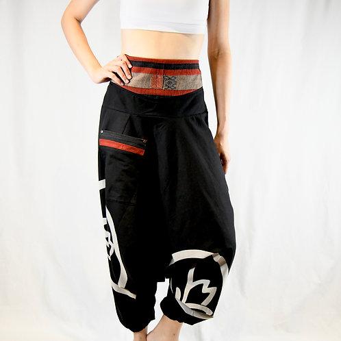 Black Harem Pants (Lotus Flower Print)-Best Online Gifts for Girls in Singapore