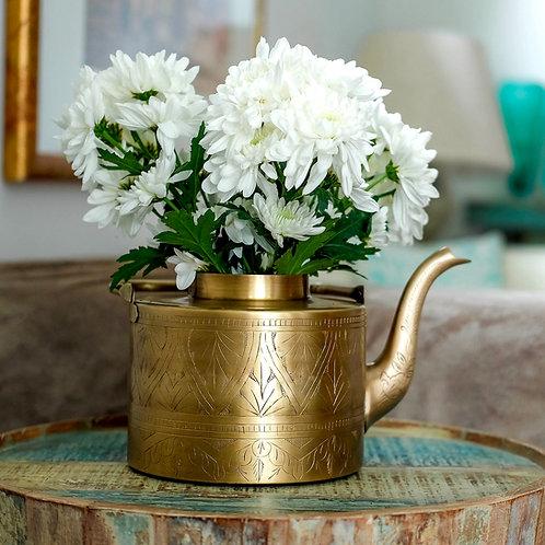 Unique Brass Kettle Vase