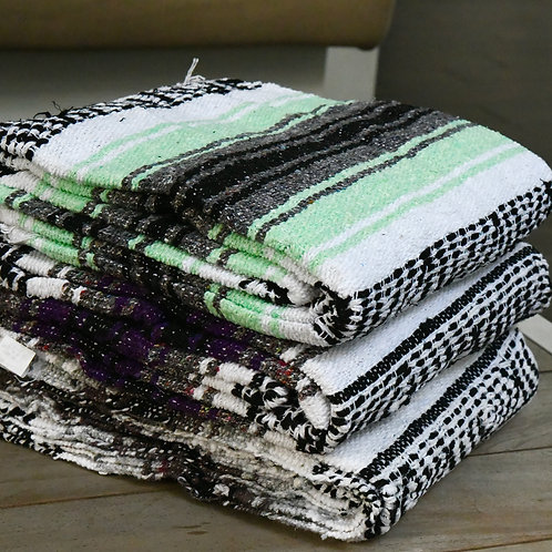Native Yoga Mexican Blanket (Light Green)-Best Online Yoga Gifts in Singapore