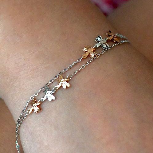 14K Rose and White Gold Bracelet