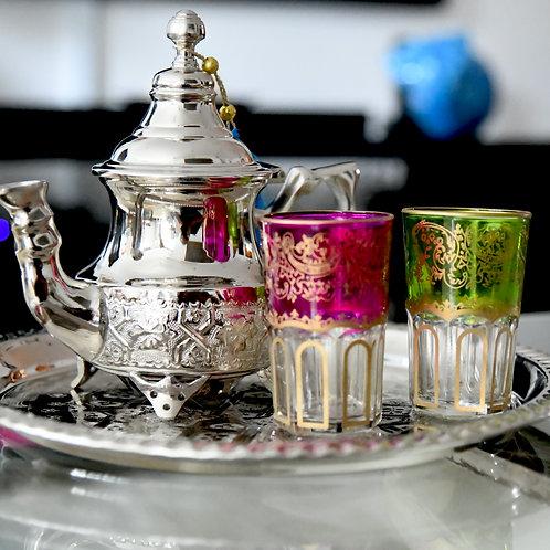 Authentic Moroccan Handmade Tea Set