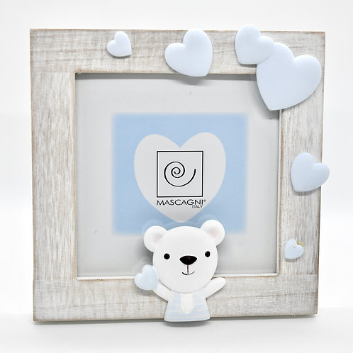Blue Teddy Photo Frame-Newborn Gifts Singapore