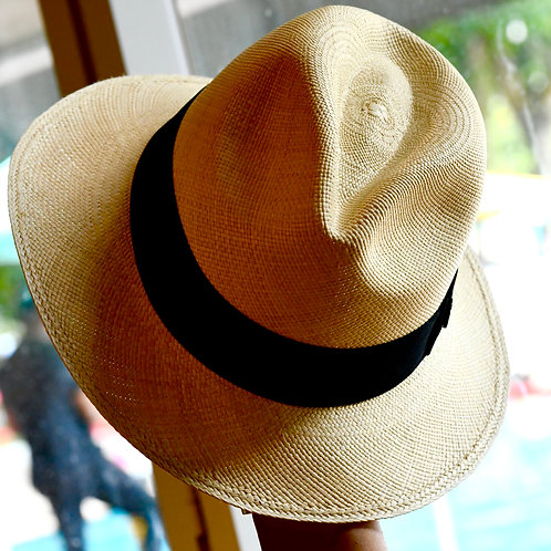 Classic Panama Hat Beige (L)