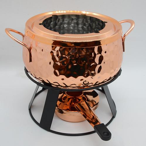 Copper Cheese Fondue Set