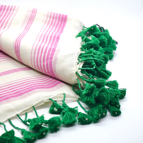 Pink & Green Champa Scarf-Best Online Gifts for Girls in Singapore