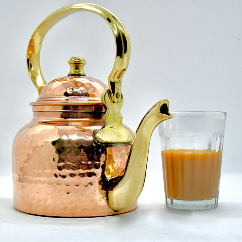 Copper hammered tea/coffee Kettle
