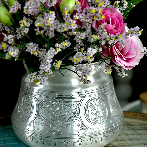 Silver Platted Uzaira Vase