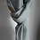 Thumbnail: Smoke Grey Shawl With Feather Print