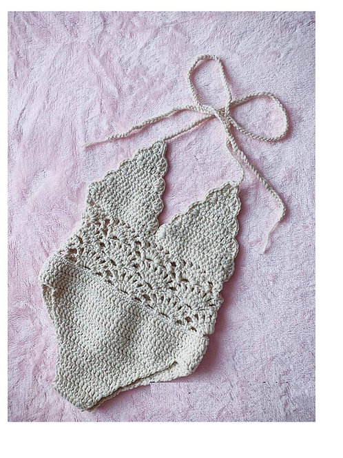 Crochet One Piece Swimsuit for Baby Girl-Newborn Gifts Singapore
