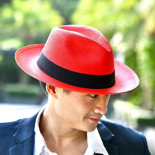 Classic Panama Hat Red (XL)