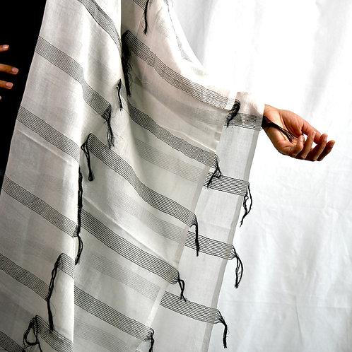 Black Stripe Kamal Scarf-Best Online Gifts for Girls in Singapore