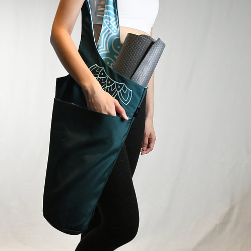 Trendy Yoga Mat Bag ( 2-tone Turquoise)-Best Online Yoga Gifts in Singapore