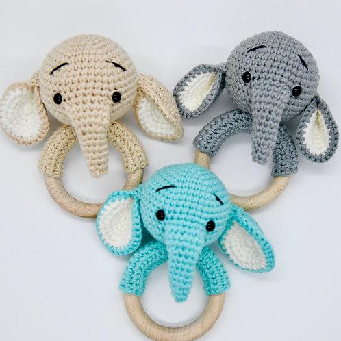 Crochet Rattle Elephant