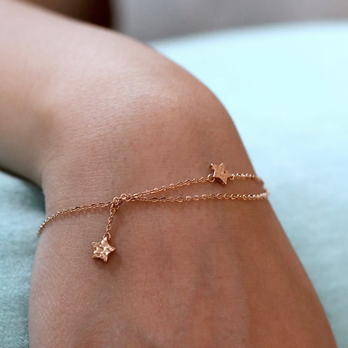 14K Rose Gold Bracelet (Star)