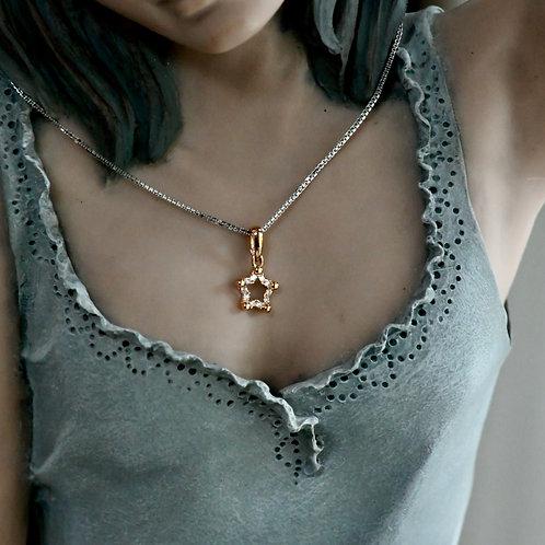 18K Rose Gold Diamond Pendant (Star)