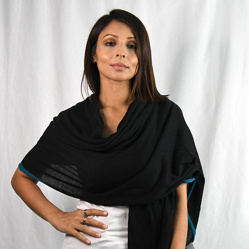 OM Scarf in black-Best Online Yoga Gifts in Singapore