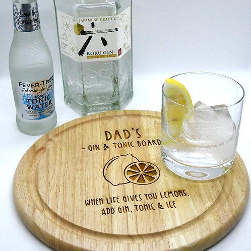 Dad's Gin & Tonic Board