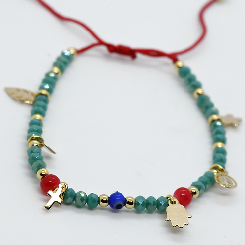 Powerful Amulet Bracelet with Lucky Charms & Beads