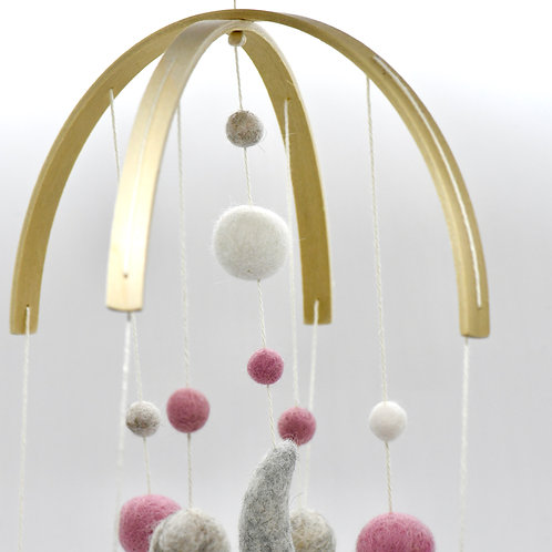 Cute Little Mobile with Moon & Stars-Newborn Gifts Singapore