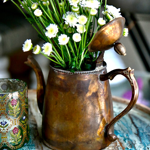 Handcrafted Vintage Brass Kettle