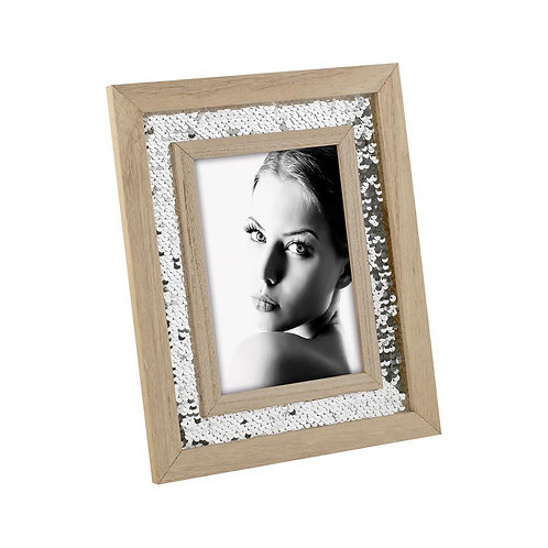 Sequins Photo Frame (Silver)