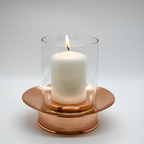 Copper Hurricane Lamp (candle included)