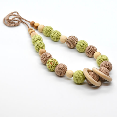 Crochet Teething Necklace (breastfeeding necklace for Mom)-Newborn Gifts Singapore