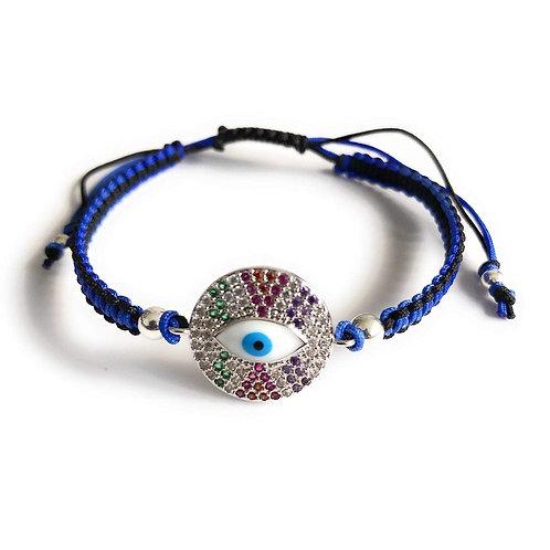 Blue & Black Cubic Zirconia Evil Eye Bracelet-Best Online Gifts for Girls in Singapore