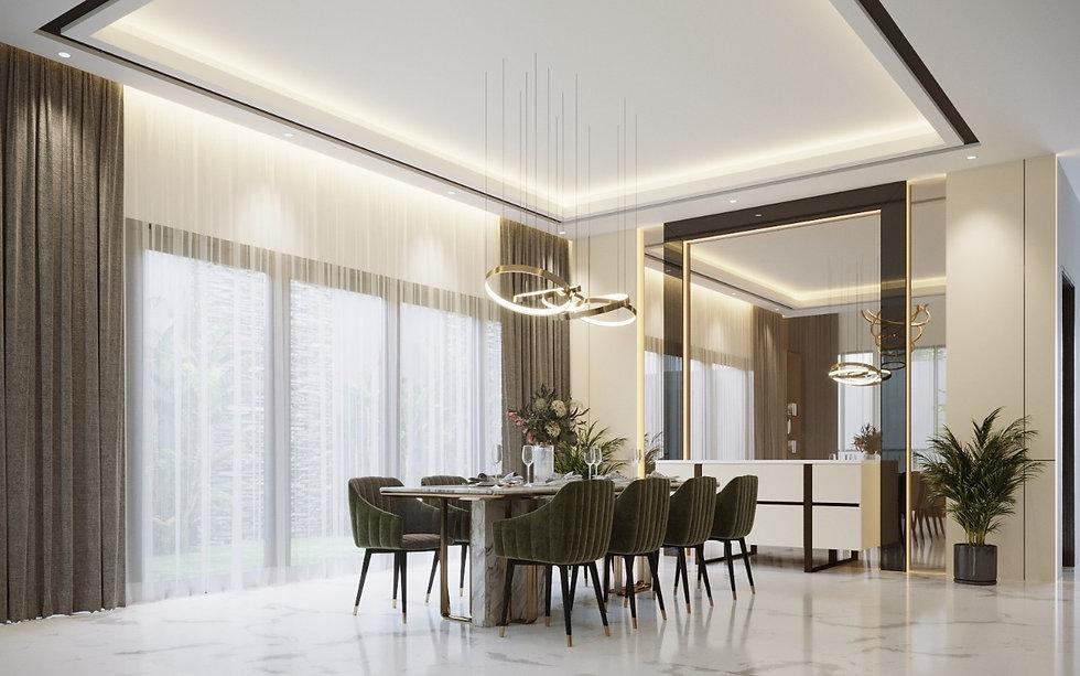 Metric Luxury  Bright Dining Room
