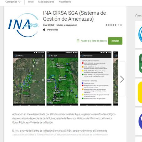 Primera aplicación Android del Instituto Nacional del Agua