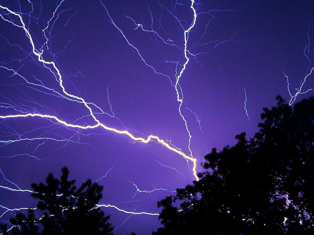 Lightning storm ignites CZU Lightning Complex Fire in Santa Cruz Mountains.