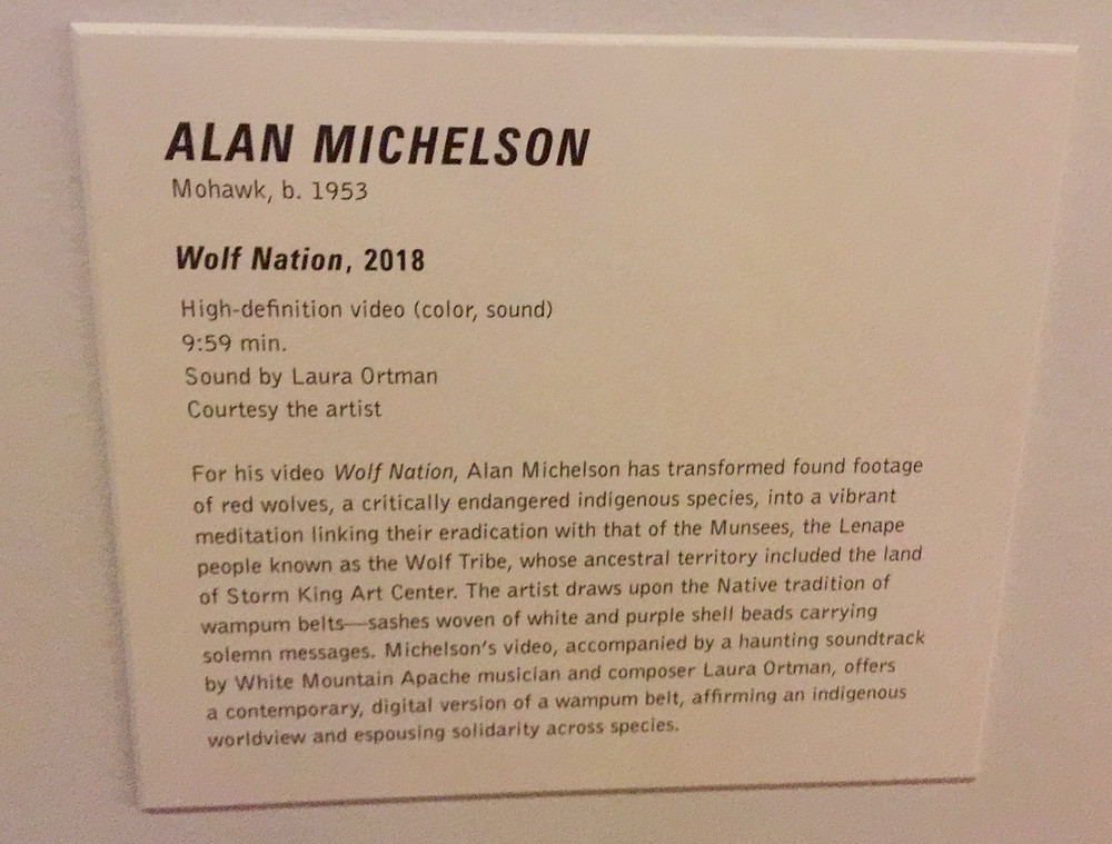 Wolf Nation placard at Artists on Climate Change exhibit