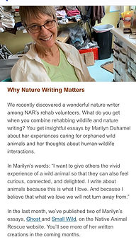 """Native Animal Rescue Nature Writer"