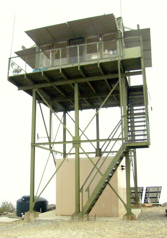 Tom Head Lookout Tower in Shasta-Trinity National Forest
