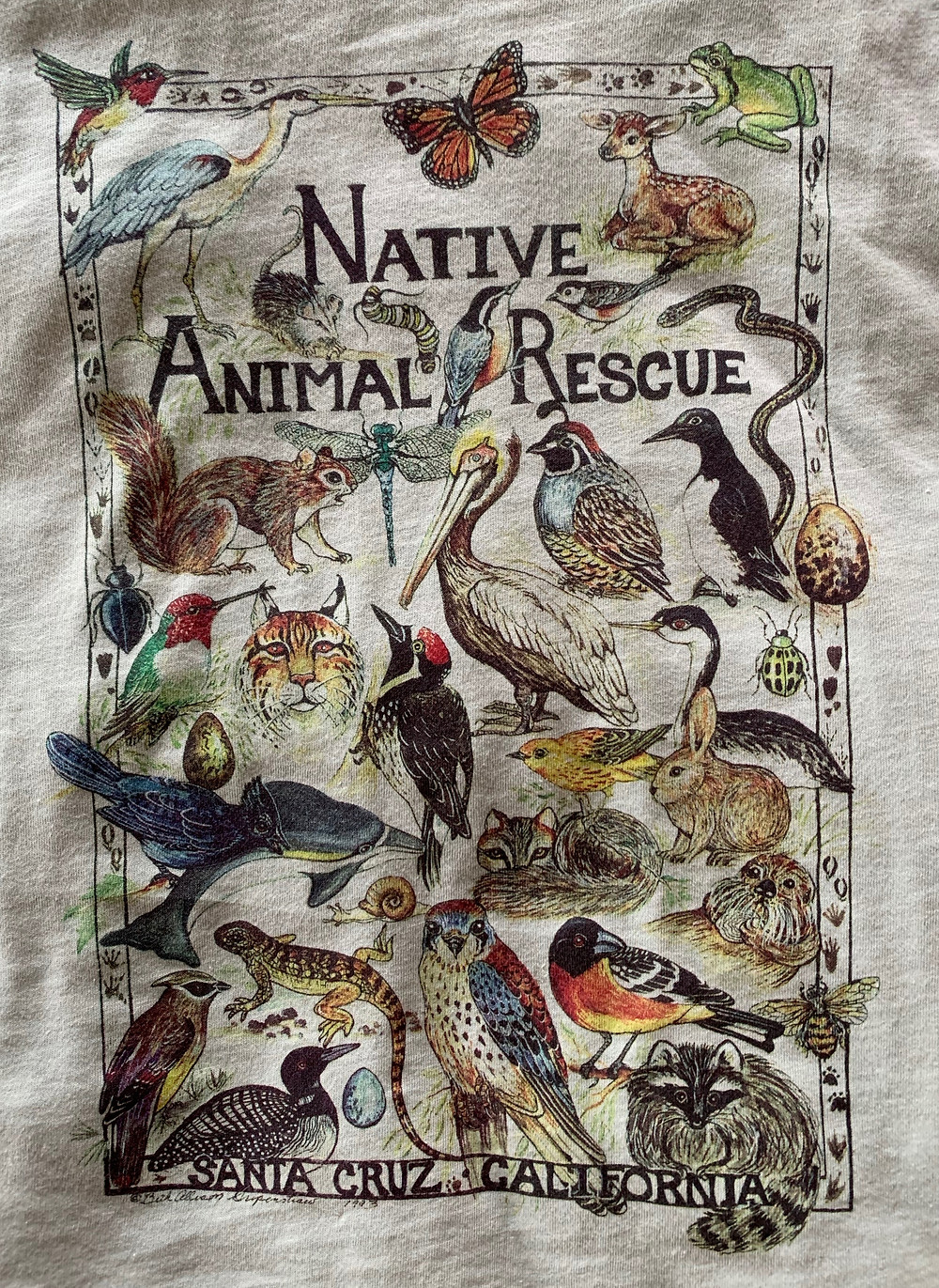 """""""Native Animal Rescue t-shirt with endangered species"""""""