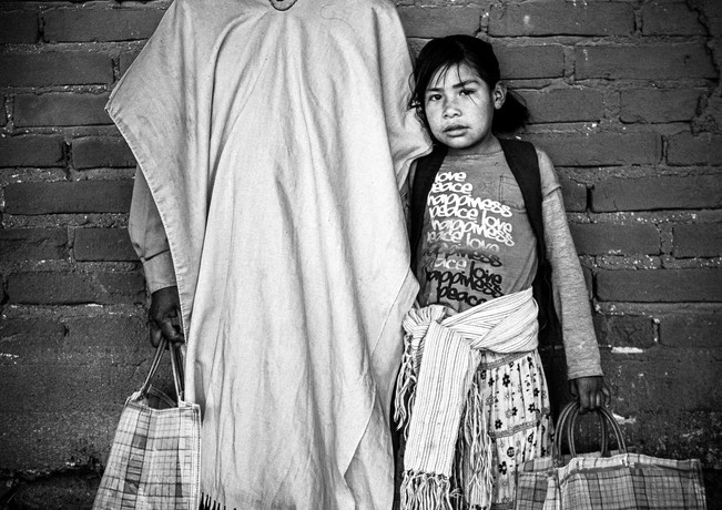 Tarahumara and girl