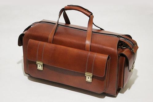 Дорожная сумка (рыжая, фурнитура антик)