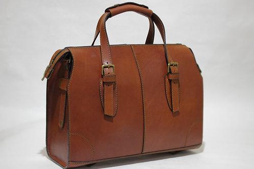 Кожаная сумка (рыжая, фурнитура антик)