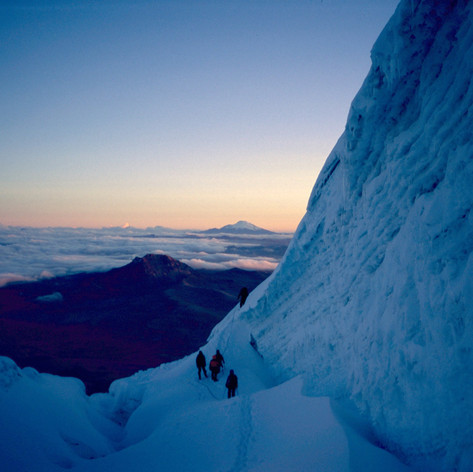 Kurz vor dem Gipfelhang