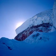 Hängegletscher am Gipfel