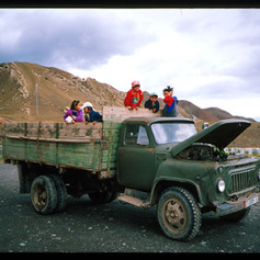 Passübergang in große Altai