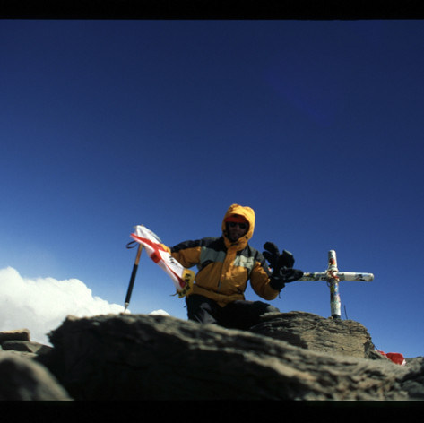 Alleine auf dem Gipfel