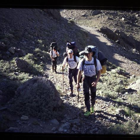 Aufstieg zum ersten Lager