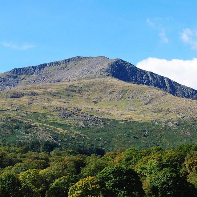 Moel Hebog viewed from Beddgelert, Snowdonia #FirstMountainIClimbed1987 #TrueLove #OnceAnExplorerAlw