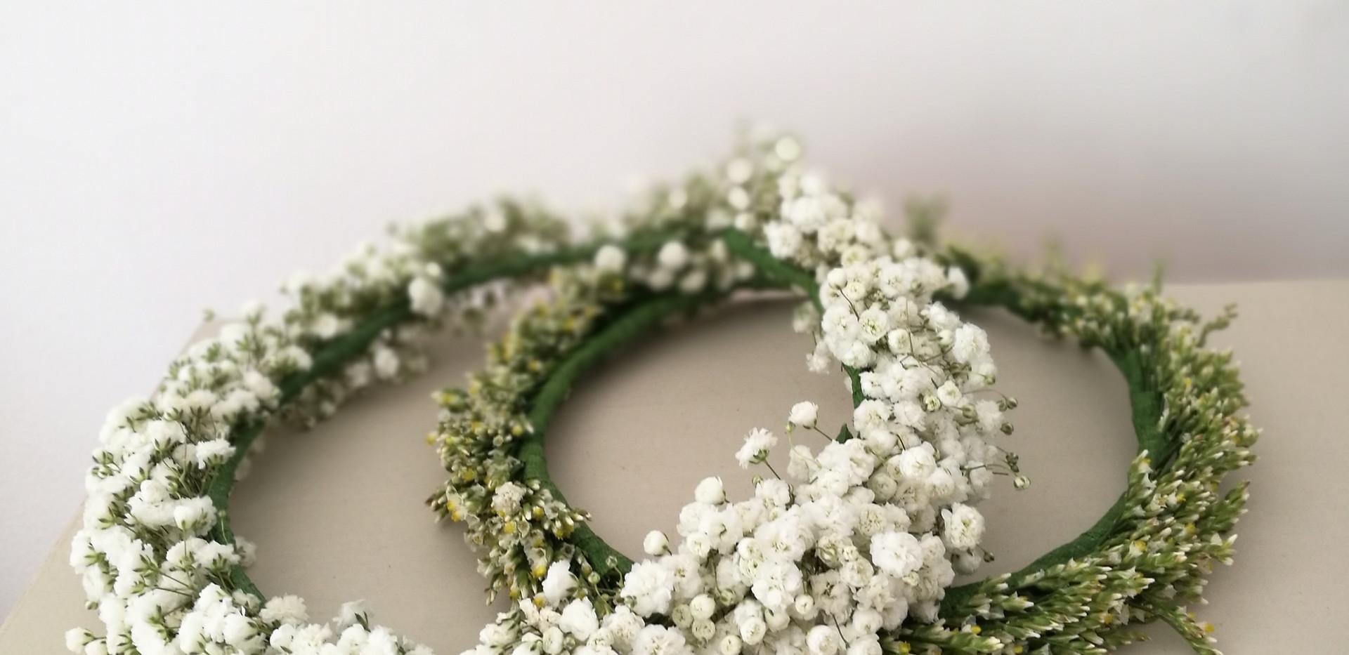 Corona de flores naturales
