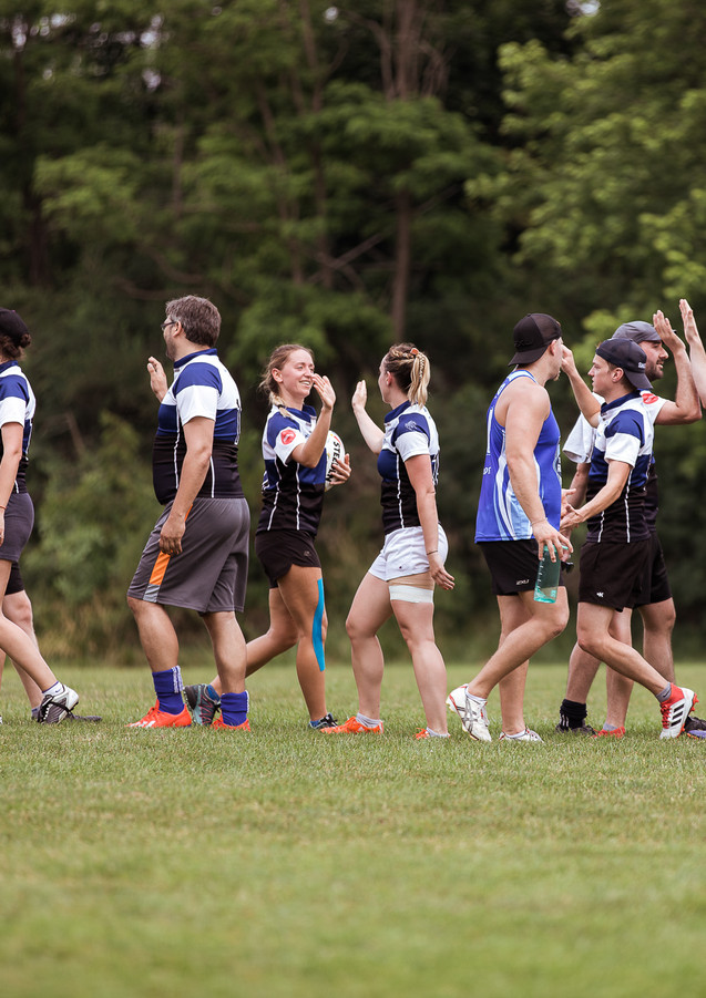 Montreal touch rugby team1 vs Toronto touch rugby team 2 end of game