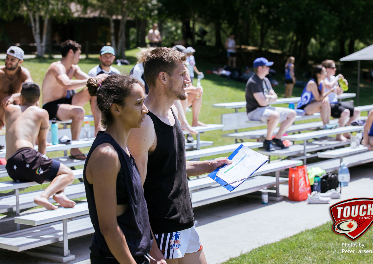Demi Quickfall (Vancouver City Touch) & Christophe Fevre (Ottawa Touch Rugby), TC selectors for the national teams.