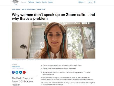 Gender balance on video calls