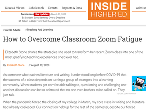 Overcoming classroom Zoom fatigue