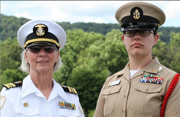 An active duty Navy volunteer and Sea Cadet volunteer.